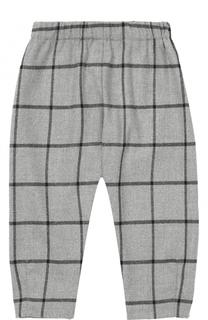 Зауженные брюки в клетку с эластичным поясом Il Gufo