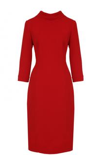 Шерстяное приталенное платье-миди Oscar de la Renta