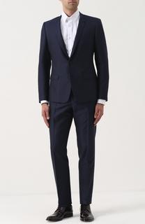 Костюм из смеси шерсти и шелка с пиджаком на двух пуговицах Dolce & Gabbana