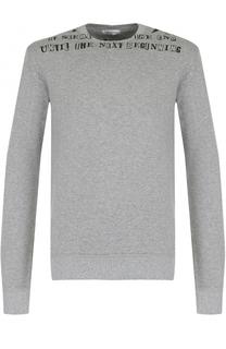 Хлопковый пуловер с принтом Valentino