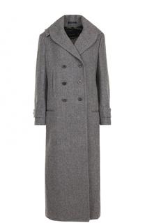 Двубортное шерстяное пальто с капюшоном Yohji Yamamoto