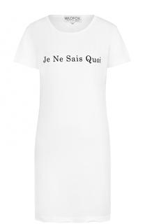 Удлиненная приталенная футболка с надписью Wildfox