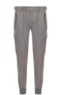 Шерстяные брюки с манжетами и накладными карманами Ralph Lauren