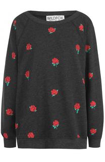 Пуловер свободного кроя с цветочным принтом Wildfox