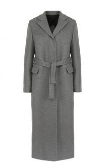 Удлиненное шерстяное пальто с поясом MSGM