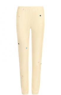 Укороченные хлопковые брюки с вышивкой Wildfox