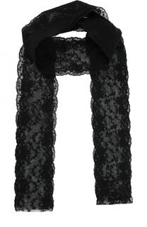 Кружевной шарф с вышивкой Ann Demeulemeester