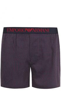 Хлопковые трусы-боксеры с эластичной резинкой Emporio Armani