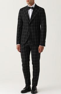 Шерстяной костюм в клетку с пиджаком на двух пуговицах Dolce & Gabbana