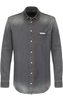 Джинсовая рубашка с потертостями Philipp Plein