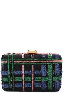 Вечерний клатч с вышивкой пайетками Elie Saab
