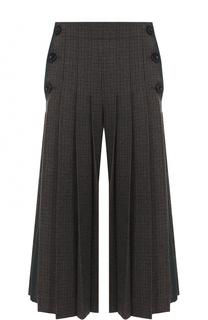 Укороченные широкие брюки со складками Sacai