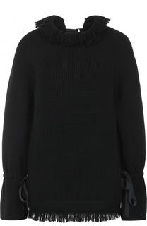 Пуловер свободного кроя с бахромой Sacai