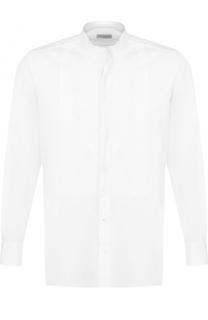 Хлопковая рубашка с фактурной отделкой Dries Van Noten