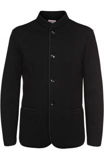 Однобортный пиджак из вискозы с воротником-стойкой Armani Collezioni