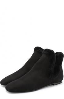 Замшевые ботинки с внутренней меховой отделкой The Row