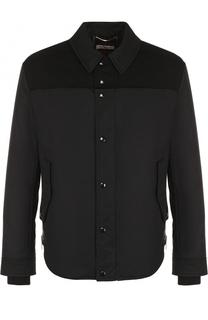 Хлопковая куртка с отложным воротником Saint Laurent