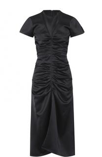 Приталенное платье-миди с драпировкой Isabel Marant