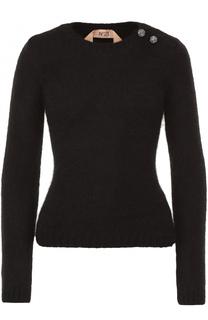 Приталенный пуловер с круглым вырезом No. 21