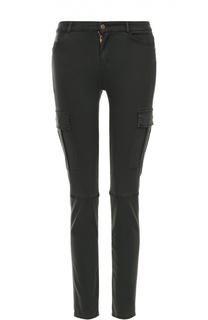 Укороченные джинсы-скинни с накладными карманами 7 For All Mankind