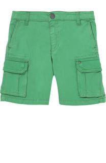 Хлопковые шорты с накладными карманами Armani Junior