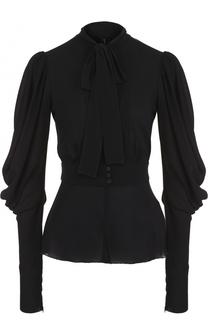 Приталенная блуза с воротником аскот Dolce & Gabbana