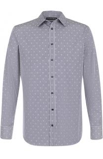 Хлопковая рубашка с принтом Alexander McQueen