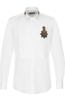 Хлопковая сорочка с аппликацией Dolce & Gabbana