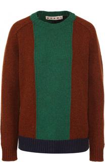 Шерстяной пуловер с круглым вырезом Marni