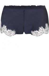 Шелковые мини-шорты с кружевной отделкой Carine Gilson