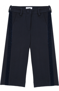 Укороченные брюки прямого кроя с лампасами Monnalisa
