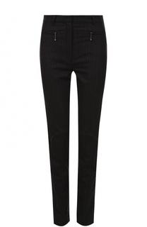 Шерстяные брюки-скинни в полоску Nina Ricci