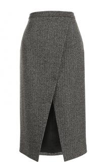 Шерстяная юбка-миди с разрезом Michael Kors