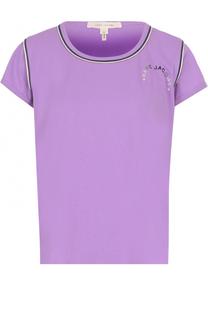 Хлопковая футболка с круглым вырезом Marc Jacobs