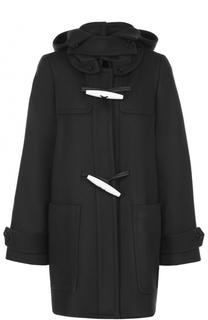 Шерстяное пальто свободного кроя с капюшоном Marni