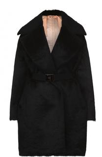 Шерстяное пальто свободного кроя с поясом No. 21
