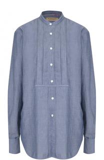 Джинсовая блуза свободного кроя с воротником-стойкой Burberry