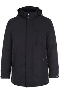 Кожаная куртка с накладными карманами Moorer