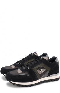 Замшевые кроссовки на шнуровке Bogner