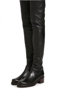 Кожаные ботфорты Vanland на устойчивом каблуке Stuart Weitzman
