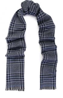 Шерстяной шарф с необработанным краем Z Zegna