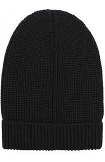 Шерстяная шапка фактурной вязки Dolce & Gabbana