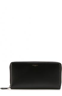 Кожаное портмоне на молнии Givenchy