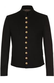 Шерстяная куртка с декоративно отделкой Dolce & Gabbana