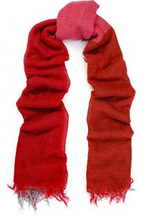 Шерстяной шарф с необработанным краем Yohji Yamamoto