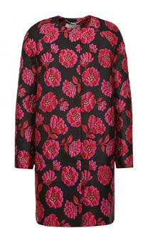 Пальто свободного кроя с цветочной отделкой Blugirl