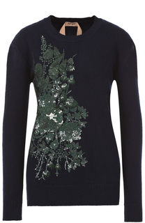 Шерстяной пуловер с вышивкой пайетками No. 21