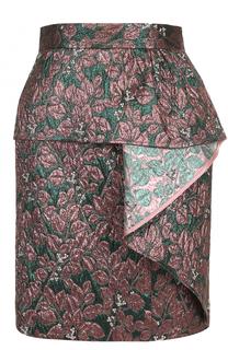 Жаккардовая мини-юбка с оборкой Tara Jarmon