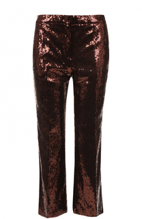 Укороченные расклешенные брюки с пайетками No. 21