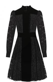 Кружевное приталенное платье-миди Valentino